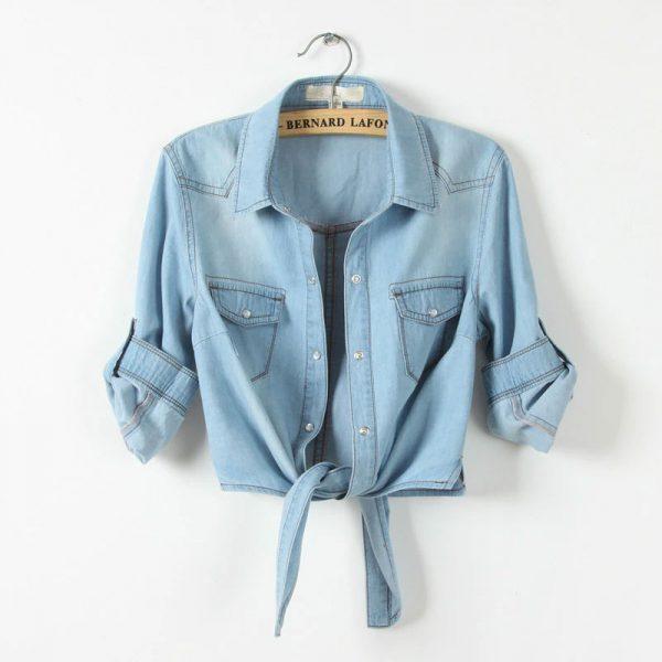 Chemise jean vintage femme