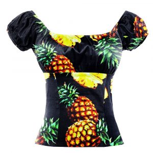 Chemisier ananas noir