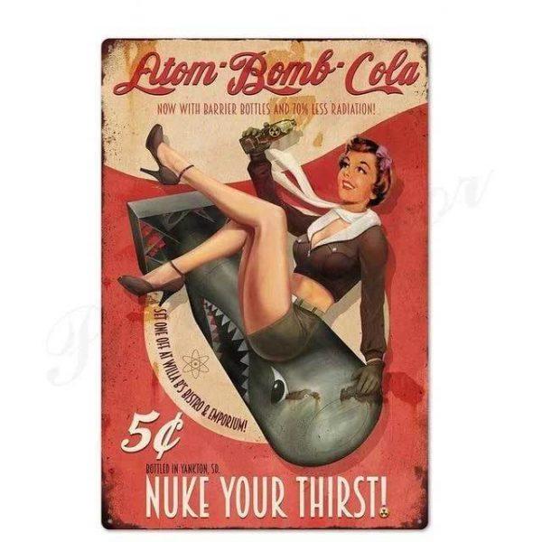 Plaque Métal Vintage Publicitaire