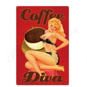 Plaque Métal Vintage USA
