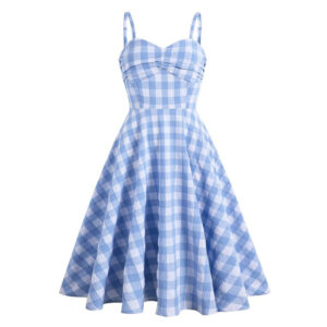 Robe Pin Up Bleue Et Blanche