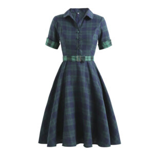 Robe Pin Up Ecossaise