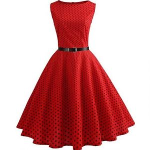 Robe Pin Up Rouge à Pois