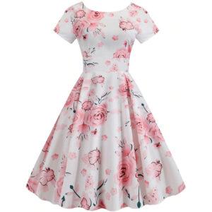 Robe Rétro Fleurs
