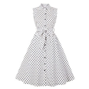 Robe Vintage A Pois Blanche
