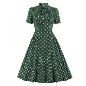 Robe Vintage Verte