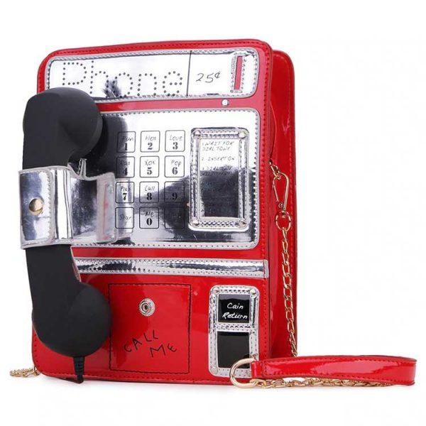 Sac en Forme de Téléphone Rouge