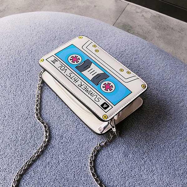 Sac Forme Cassette Blanc