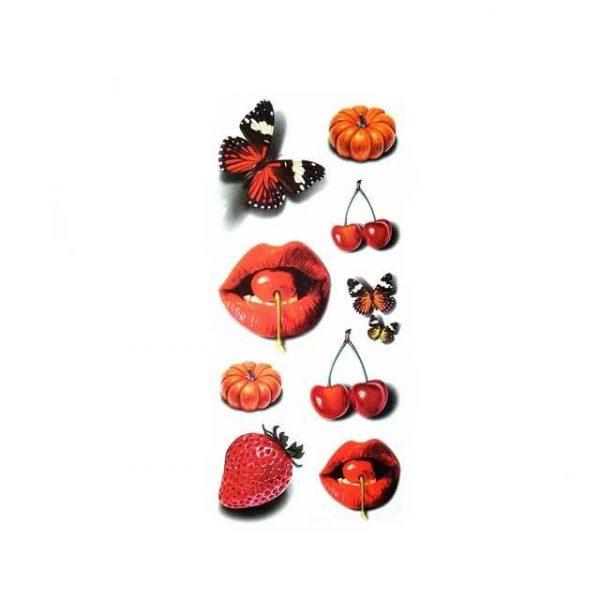 Tatouage Éphémère Fruit
