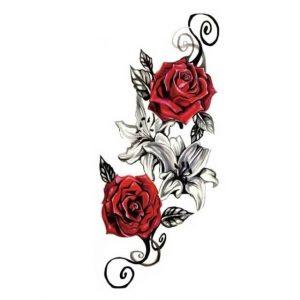 Tatouage Éphémère Rose