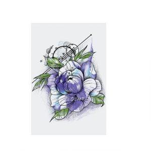 Tatouage Temporaire Fleur Pivoine