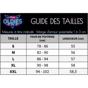 Top pin up femme guide des tailles