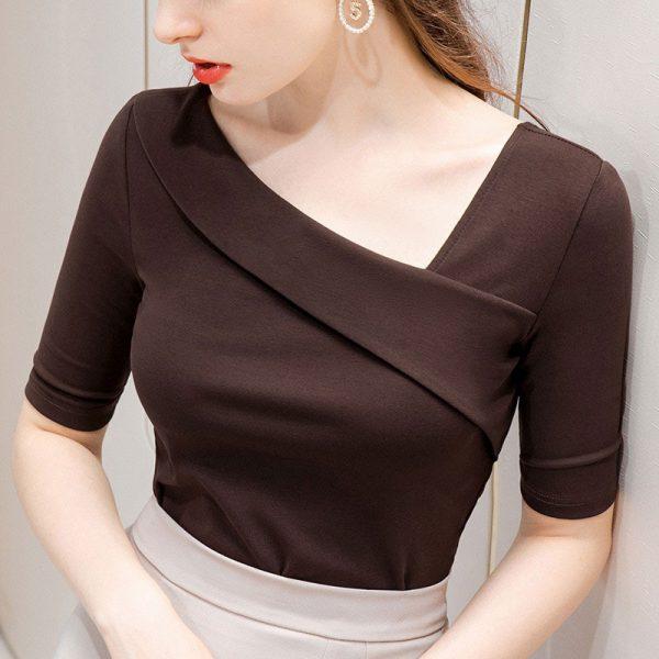 Top pin up femme marron